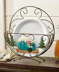 Country Stars And Berries Plate Holders Camper Evergreen Barn Rooster Plate Holder