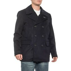 Pendleton Wool Blend Maritime Double-breasted Navy Blue Peacoat Jacket Mens Xl