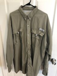 Mens Columbia PFG Rear Vented Casual Fishing Shirt Size 2XL