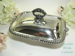 Hecworth Silver Plated Lidded Square Tureen Lion Paw Feet Reproduction Sheffield