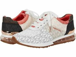MICHAEL Michael Kors Allie Trainer Sneakers Women's Casual Shoes White Navy $144.95