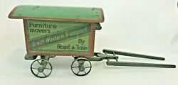 Great Western Transport Toy Advertising Wagon Furniture Movers Train Cart Car