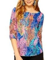 NWT  $68 Lilly Pultizer Electric Feel Porter Tan Sleeve SZ S