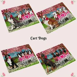 I Love Cart Dogs Cats Cutting Board Pet Kitchen Vegetable CutterPet lover gift