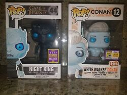 Sdcc 2017 Game Of Thrones And Conan Funko Pop - Night King And White Walker Conan