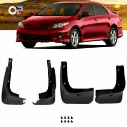 Splash Guards Front Rear For 2009-2013 Toyota Corolla Mud Flaps Complete Pair