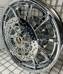 Indian Chief Classic Chrome Front Wheel And Rotors 2015 -19 Mag Rims Exchange