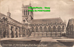 R336333 Cambridge. St. Johns College. First Court And Chapel. Friths Series. No.