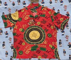 New Polo Roulette Casino Caldwell Red Camp Rayon Shirt Xxl Rare Nwt