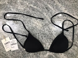 New With Tags!! Rythym Triangle Bikini Top (SmallBlack)-Retail $38.00-Nord