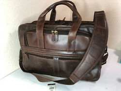 Wilson Brown Leather Briefcase Messenger Laptop Computer Executive Bag