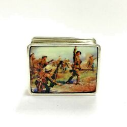 Ww1 Military First Charge Pill Snuff Box 925 Sterling Silver