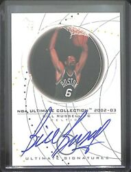 2002-03 Upper Deck Ultimate Collection Ultimate Signature Autograph Bill Russell
