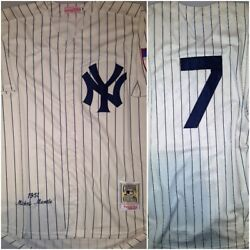 NY Yankees Legend Mickey Mantle #7 Replica THROWBACK Mens Large Baseball Jersey
