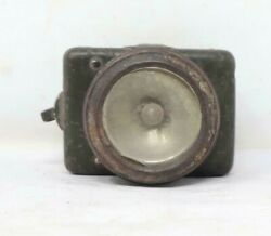 19th C Vintage Old Collectible Iron Handcrafted Bicycle Battery Torch Lighting