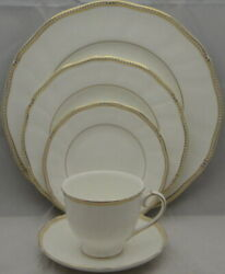 Wedgwood China Crown Gold Five Piece Place Setting - Discontinued