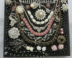 Vtg High End Rhinestone Brooch Necklace Earrings Mixed Lot Weiss Judy Lee