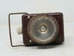 19th C Ancient Old Collectible Iron Handcrafted Bicycle Battery Torch Lighting