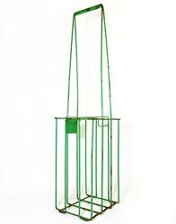 Mid-20th C American Neon Green Handled Tennis Ball Caddy Wire Collection Basket