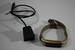 Fitbit Alta + Hr Heart Rate Wristband Special Edition Gold Small S Leather Band