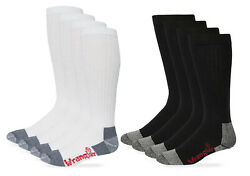 Wrangler Riggs Mens Workwear Tall Cushion Cotton Over the Calf Boot Socks 4 Pack $17.99