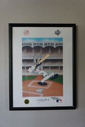 Batter Up Doc New York Yankees Lithograph Bugs Bunny Signed Mckimson And Ford