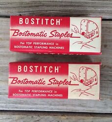 Lot 2 Boxes New Nos Vintage Bostitch Bostomatic Staples Cat. Sbb