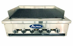 Alpha Heavy Duty Cast Iron Grates 36 Gas Charbroiler - 120k Btuand039s