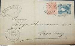 J 1872 Mexico British Post Office In Tampico In A Mail Bearing With A 4p Ora
