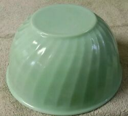 Vintage Fire King Oven Ware Swirl Jadeite Green 9 In Mixing Bowl Vgc
