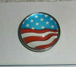 Vtg Style Vw Buick Chevy Ford Gm American Flag Dash Magnet Note Holder 60s 70s