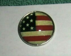 Vtg Style Vw Buick Chevy Ford Gm American Flag Dash Magnet Note Holder 70s 80s