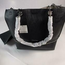 Calvin Klein Reversible Tote Black New With Tags $57.99