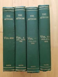 Lot Of 4 - The Autocar Hardcover Collection July 1953 - June 1955