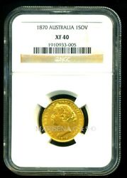Australia Victoria 1870 Sydney Mint Gold Coin Sovereign Ngc Certified Xf 40 Rare