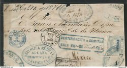 J 1874 Mexico Hdalgoand039s Head 100 Cents Gray Imperforated Front Of Letter Mu
