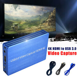 Video Capture Box 1080p Fhd 60fps Dongle Video Recorder 4k Hdmi To Usb 3.0