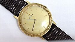 Omega Vintage Mechanical Movement 18k. Yellow Gold Dress Gents Watch 1960's