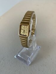 Seiko Quartz Gold Plated Womanand039s Vintage Wrist Watch 2y00-5640