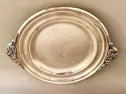 Randahl Sterling Leafy Handled Round Tray 12 A81 Monoand039d P 30.6 Ozt