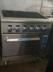 Imperial Radiant Broiler With Convection Oven Ir-36br-c
