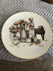 Gorham Norman Rockwell 1964 Summer - Country Peddler 1984 Limited Edition Plate