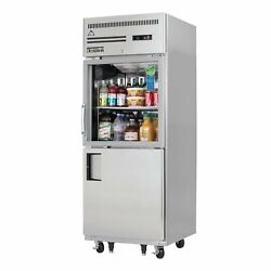 Everest Egsh2 29 One Section Solid And Glass Door Reach-in Refrigerator, 23.0 ...