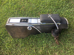 1966-1970 Mopar B Body 4 Speed Console Shifter Boot Top Plate Storage Used