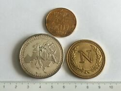 Set Of 3 Medals And Token France - Ref59220