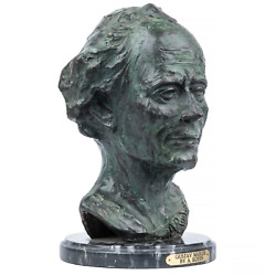 Bust After Auguste Rodin Gustav Mahlar Signed Alexis Rudier Foundry
