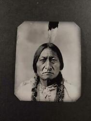 Sixth-plate Native American Indian Tintype C2441rp