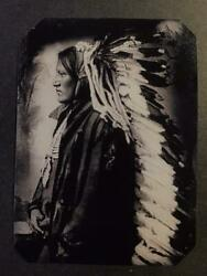 Sixth-plate Native American Indian Tintype C2422rp