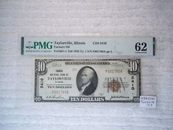 1929 10 Taylorville Illinois Il National Currency T1 5410 2 Consecutive