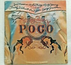 Autographed/signed Poco The Very Best Of Poco 2 Lps Paul Cotton Rusty Young
